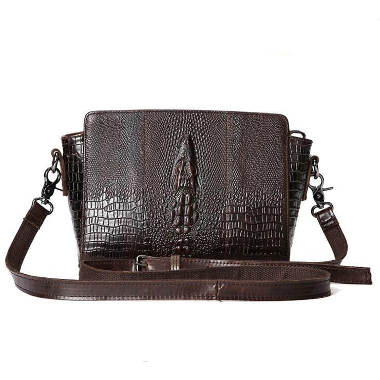 100%Genuine Leather Brand handbag 2017 Aslant messenger bag The European and American crocodile grain fashion female package european and american 2017 new lychee grain 100
