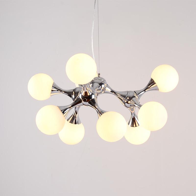 Modern Pendant Light Magic Bean Glass Ball Lamp Molecular Pendant Lamp Restaurant Bar Coffee Suspension Home Pendant Lights G755