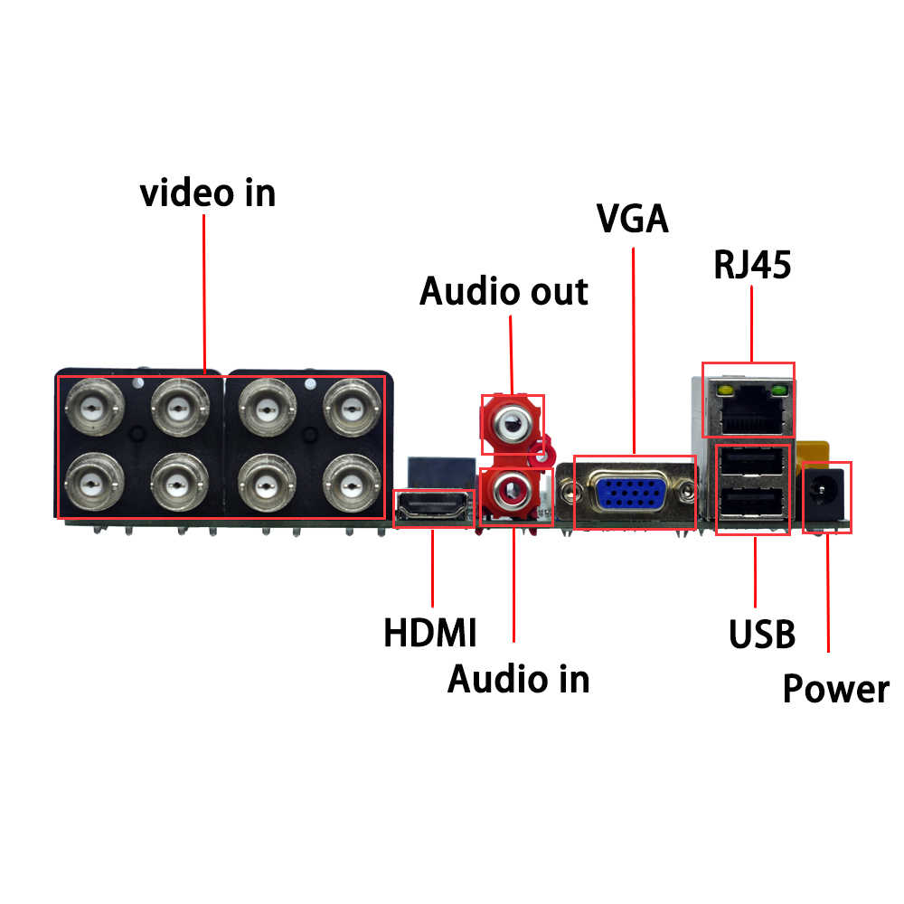 Ouertech AHD CVI TVI IP CVBS 5 In 1 8CH DVR CCTV Papan 1080N/1080 P/5MP ONVIF pengawasan Video Recorde Papan Utama