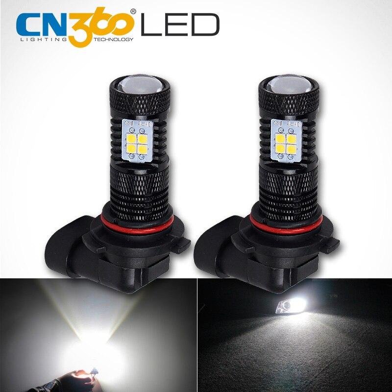 CN360 2PCS Lumens Super Parlaq SMD3030 Ağ 9006 HB4 Avtomobili LED - Avtomobil işıqları - Fotoqrafiya 1