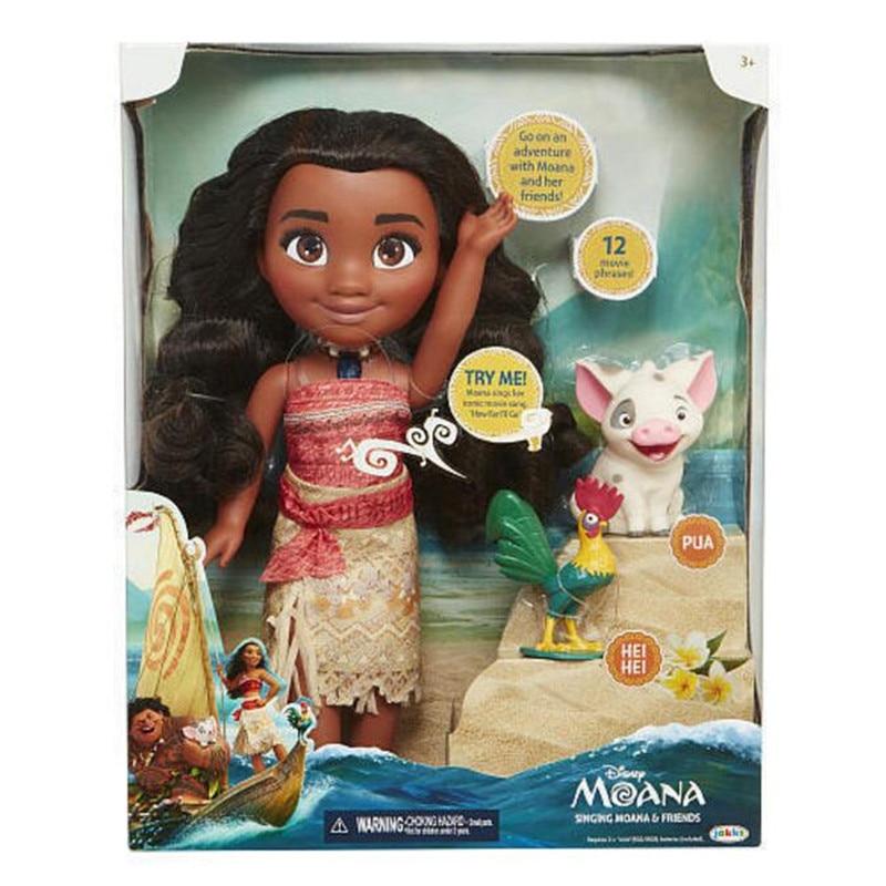 3d2b3edd46f5 Vaiana moana Boneca collar habla cantando música muñeca cosplay modelo  princesa de película de dibujos animados figuras de anime juguetes para  niños de ...