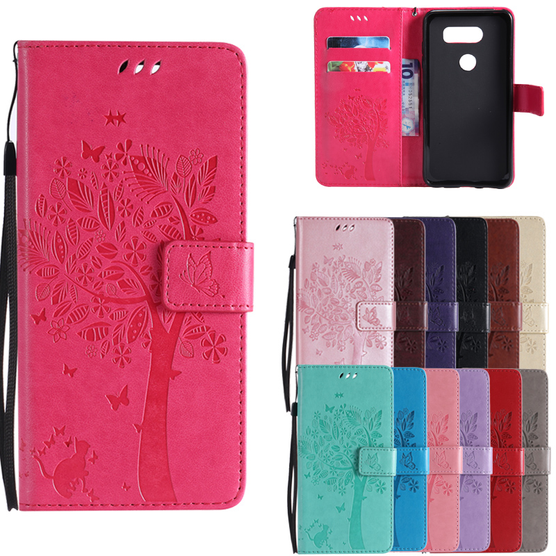 3D Tree <font><b>Phone</b></font> <font><b>Cases</b></font> for <font><b>LG</b></font> <font><b>K3</b></font> K4 K5 K8 <font><b>LTE</b></font> Luxury Wallet Flip Leather Stand Cover for <font><b>LG</b></font> K 3 4 5 8 Cartoon Cat Coque Card Solts image
