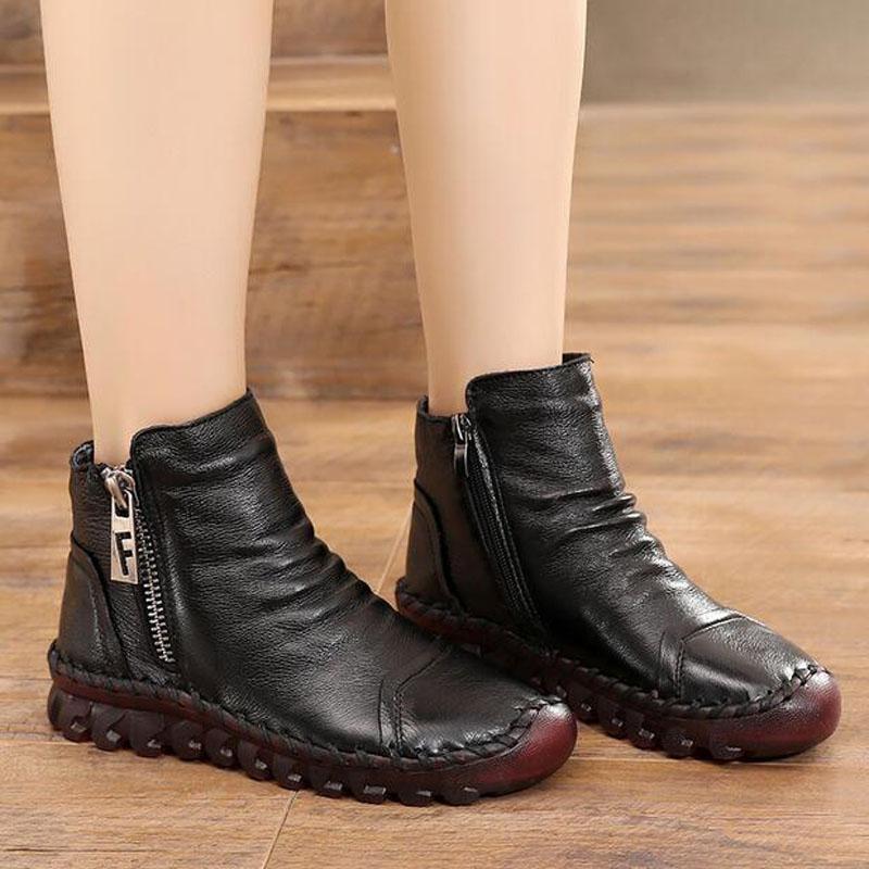 0eec81ea766 À D  Black Boots Moda Da Inverno Prova Couro Sapatos Plataforma Água O Sexo Botas  Neve Do Nova Cunha Para Vaca De Ankle Quente Mulheres ...