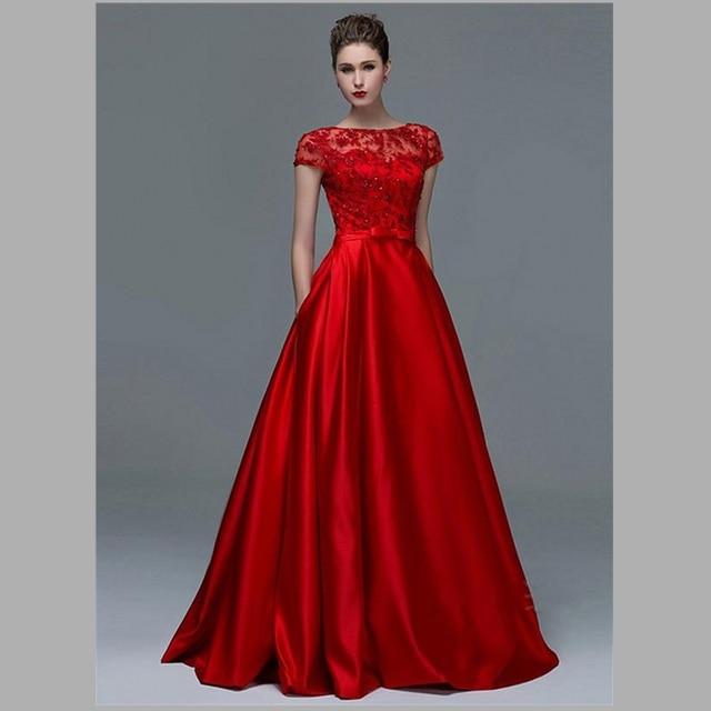 2015 Spectacular Red Lace Wedding Dresses Up Back A Line Bridal Gowns Vintage Dress
