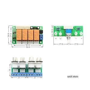 Image 3 - Lusya röle 4 yönlü ses giriş sinyali seçici anahtarlama RCA ses anahtarı giriş seçimi bitmiş kurulu B9 002