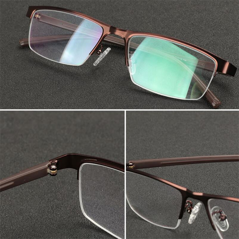Image 4 - 0  0.5  0.75 To  4 Half Frame Photochromism Myopia Glasses Men Metal Square Sun Discoloration Short sighted Eyeglasses Women-in Men's Sunglasses from Apparel Accessories on AliExpress