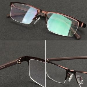 Image 4 - 0  0.5  0.75 a 4 Mezza Cornice di Photochromism Miopia Occhiali Da Uomo Quadrato In Metallo Da Sole Scolorimento Corta gli Occhiali miopi Delle Donne