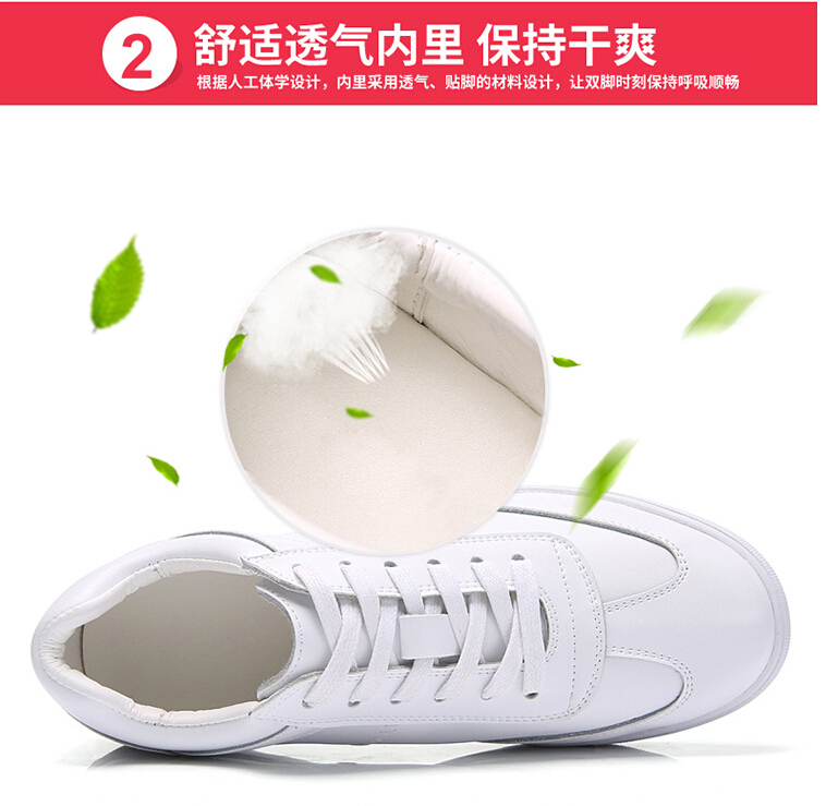 women shoes Genuine leather Lace-Up flats white shoe Soft bottom loafers Casual Shoes size 35-40 31