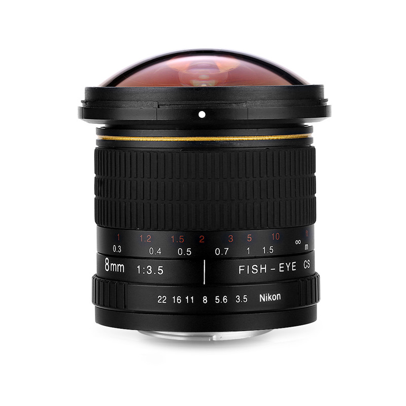 Lightdow 8mm F/3.5 Ultra Wide Angle Fisheye Lens for Nikon DSLR Camera D3100 D30 D50 D5500 D7000 D70 D800 D700 D90 D7100 6