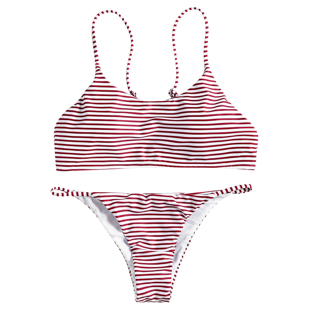 <font><b>2018</b></font> <font><b>sexy</b></font> <font><b>Bikini</b></font> Set Summer Striped Swimwear Brazilian <font><b>Bikini</b></font> Women Beach Wear Bathing Suit Popular Female Swimsuit image