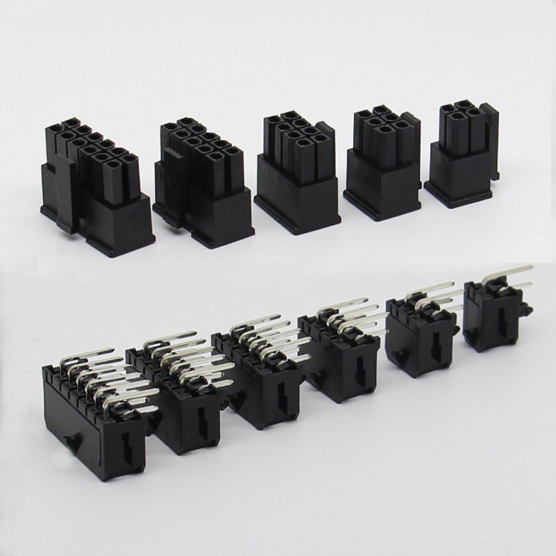 30sets 3.0MM Pitch 5557 Connector Plug Socket Double-row PCB Curved Needle Seat 90-degree Line-to-Board