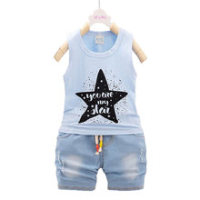 Baby Boy Clothing Outerwear Sport Clothes Sets Fashion Summer Newborn Baby Boys Suit Infant Kids Cotton Cloth Brand Design Sets cheap O-Neck Pullover Fits true to size take your normal size Herringbone cotton polyester REGULAR R-002 582 Active Sleeveless