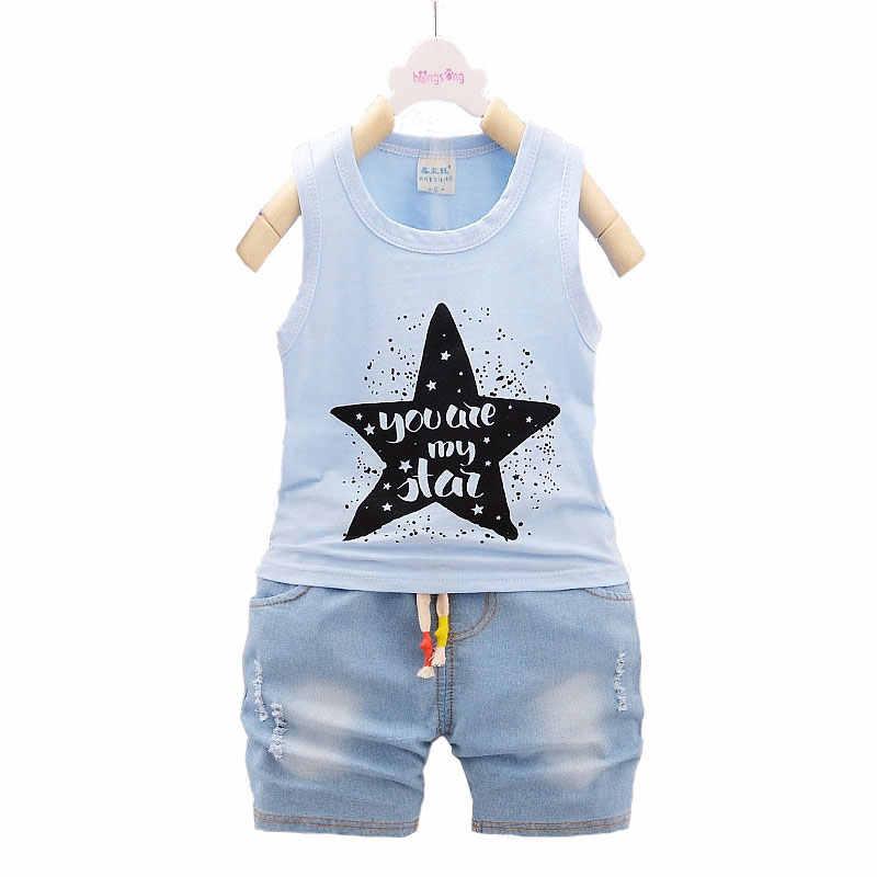 Bebé ropa de abrigo ropa deportiva Sets moda verano bebé recién nacido  Niños traje infantil niños bd8228d52cf