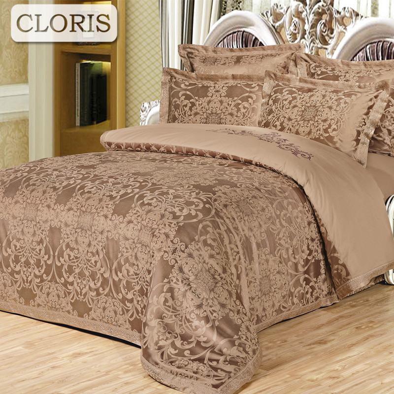 Cloris Moscú cama jacquard moda Fundas nórdicas Ropa de cama Kit ...
