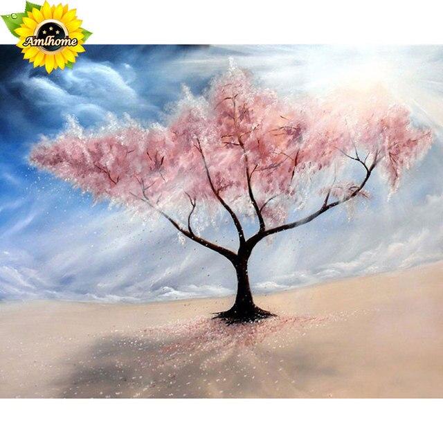 101 Gambar Lukisan Taman Bunga Sakura HD