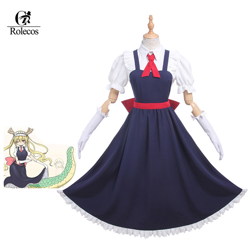 Rolecos Anime Japonés Kobayashi san Chi no Maid Dragón Cosplay Tooru Cosplay Maid Dress Costume Juego de rol