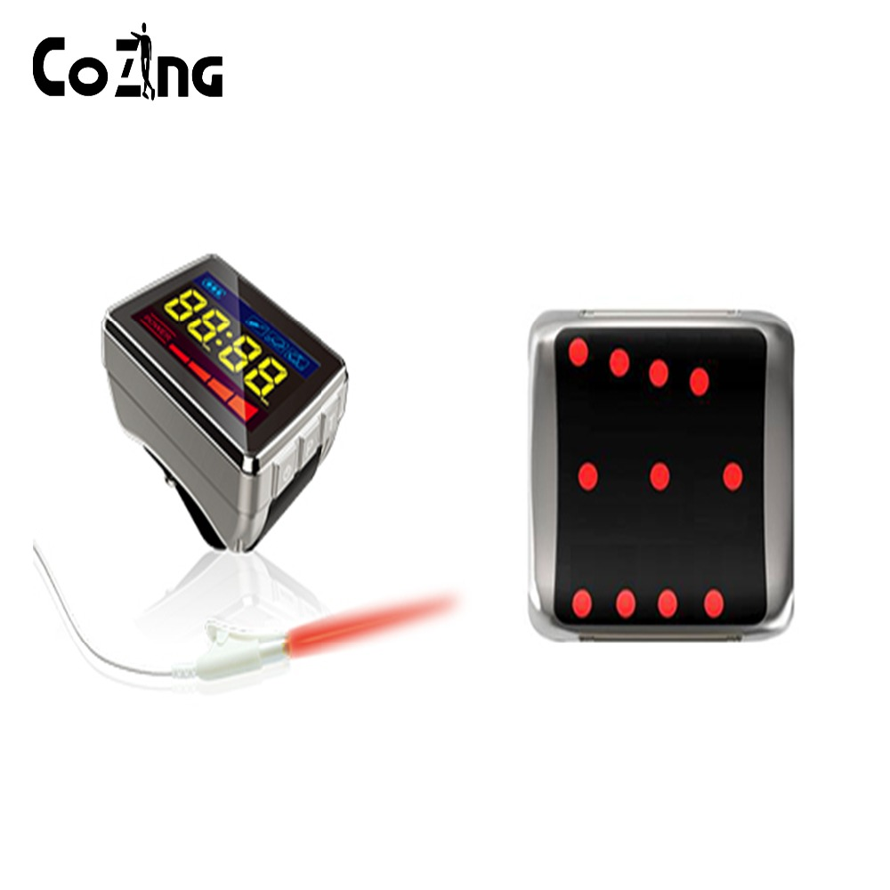 Fast effect portable red light 650nm soft cold laser therapy wrist-nasal high blood sugar treatment device wrist soft laser therapy device with 18 lasers points for high blood pressure high blood sugar body pain relief