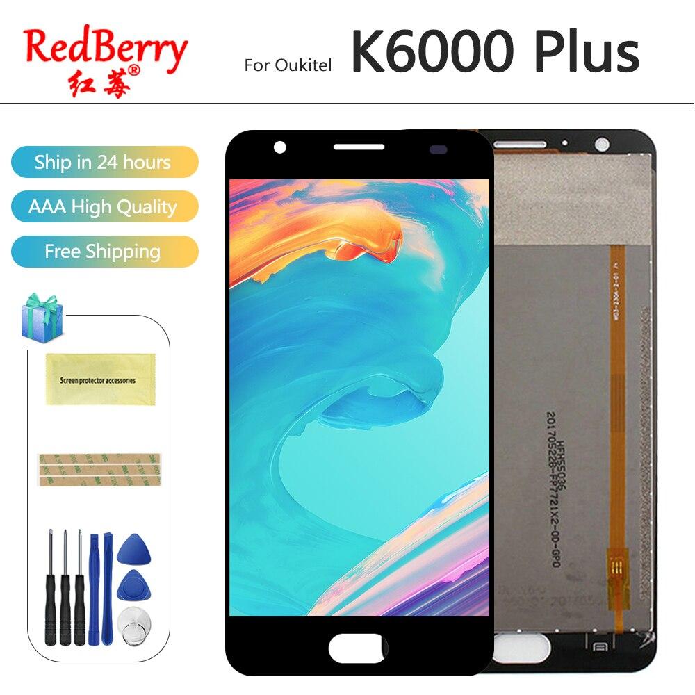 Redberry Pour Oukitel K6000 Plus LCD Affichage Mobile Téléphone Écran Tactile Digitizer Assemblée Pièces De Rechange Avec Des Outils