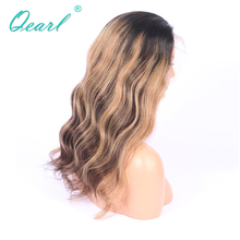 150% Ombre 1B/4 Highlights27# Blonde Baby Hair Remy Brazilian Human Hair FUll Lace WIg Pre-Plucked Remy Wigs