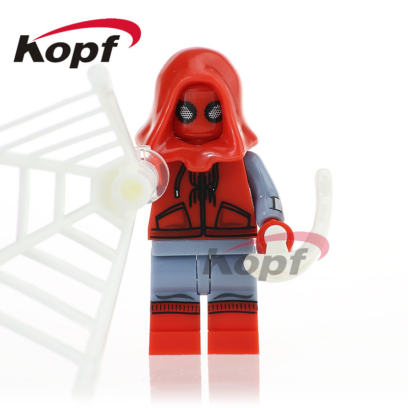 Single Sale XH 769 Super Heroes Spiderman Masked Robber Daredevil Homecoming Bricks Building Blocks Christmas Toys for children
