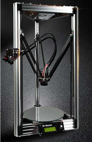 D-force deltabot 3d printer atom rostock for kossel can be upgraded to two extruders once request