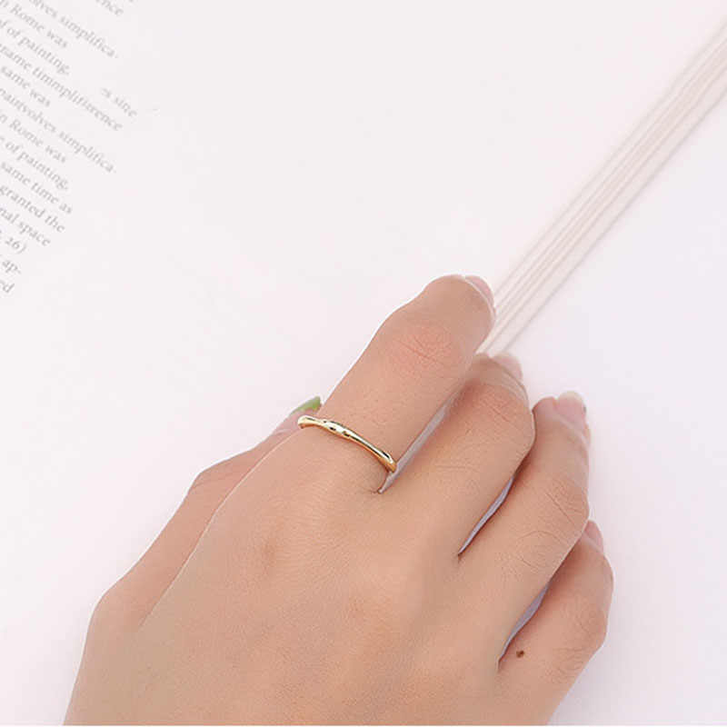 Inzatt Nyata 925% Sterling Perak Geometris Poligon Cincin untuk Wanita Pesta Minimalis Fine Perhiasan Aksesoris Hadiah 2019