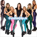 free pp 7 colors Women's fashion leggings thin Seamless shiny leggings Fish scale leggings long pencil pants plus size xs-2xl