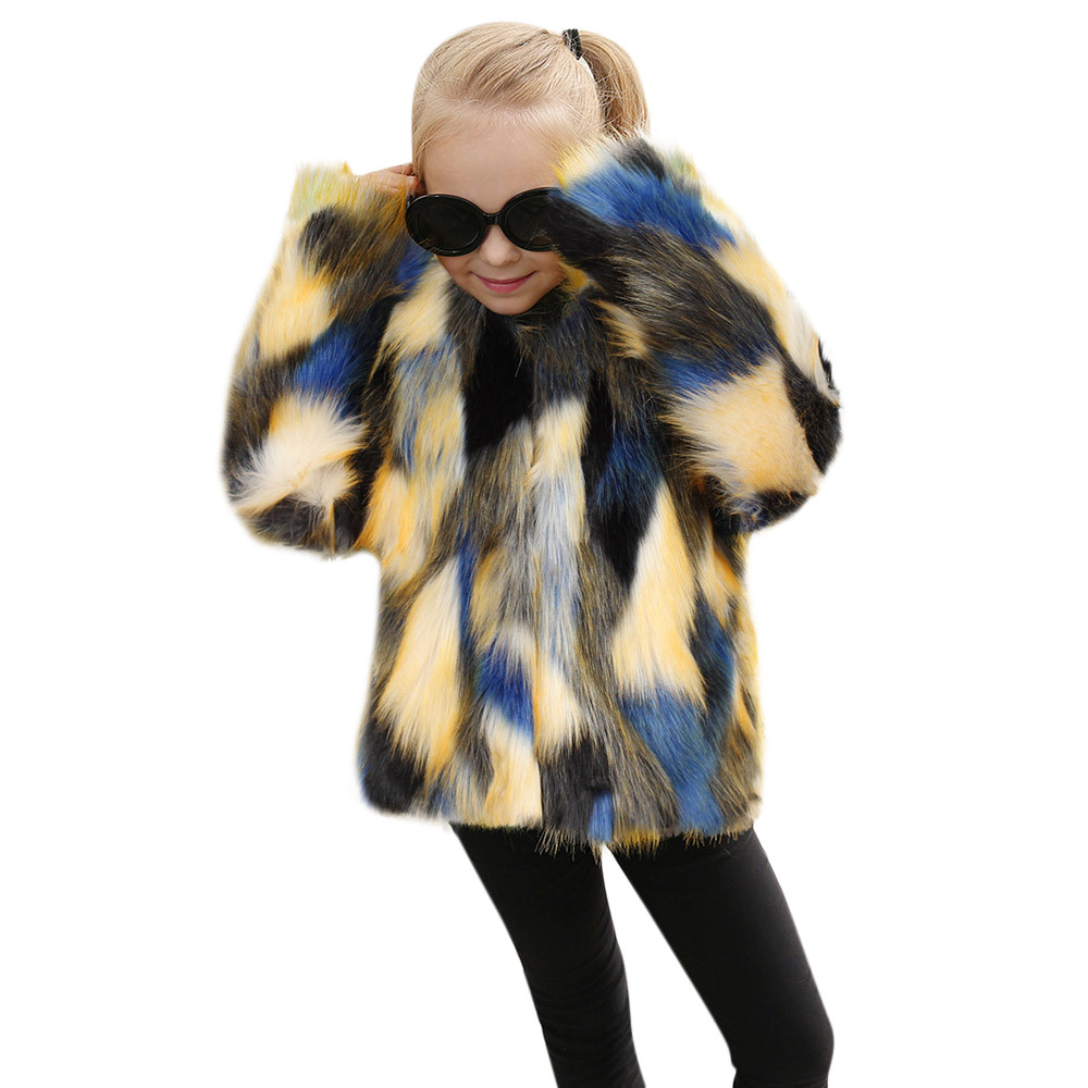 8acfb0ede toddlers clothing winter Kids Baby Faux Fur Coat Girls Jacket Thick Warm  Outwear Clothes faux fur coat baby winter coats 2018 – Vucemi.com