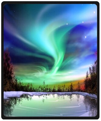 Harika Büyüleyici Aurora Güzel Gökyüzü Tasarım Atmak Battaniye Polar 50