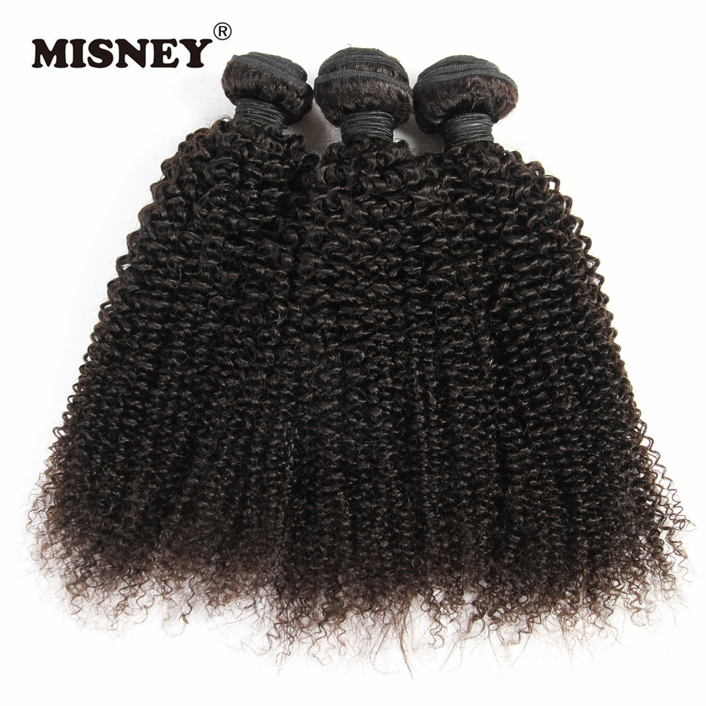 Factory Raw Human Hair Extension Kinky Curly 100% Human Hair Weaving 3 Bundles Machine Double Weft Nature Color 100g
