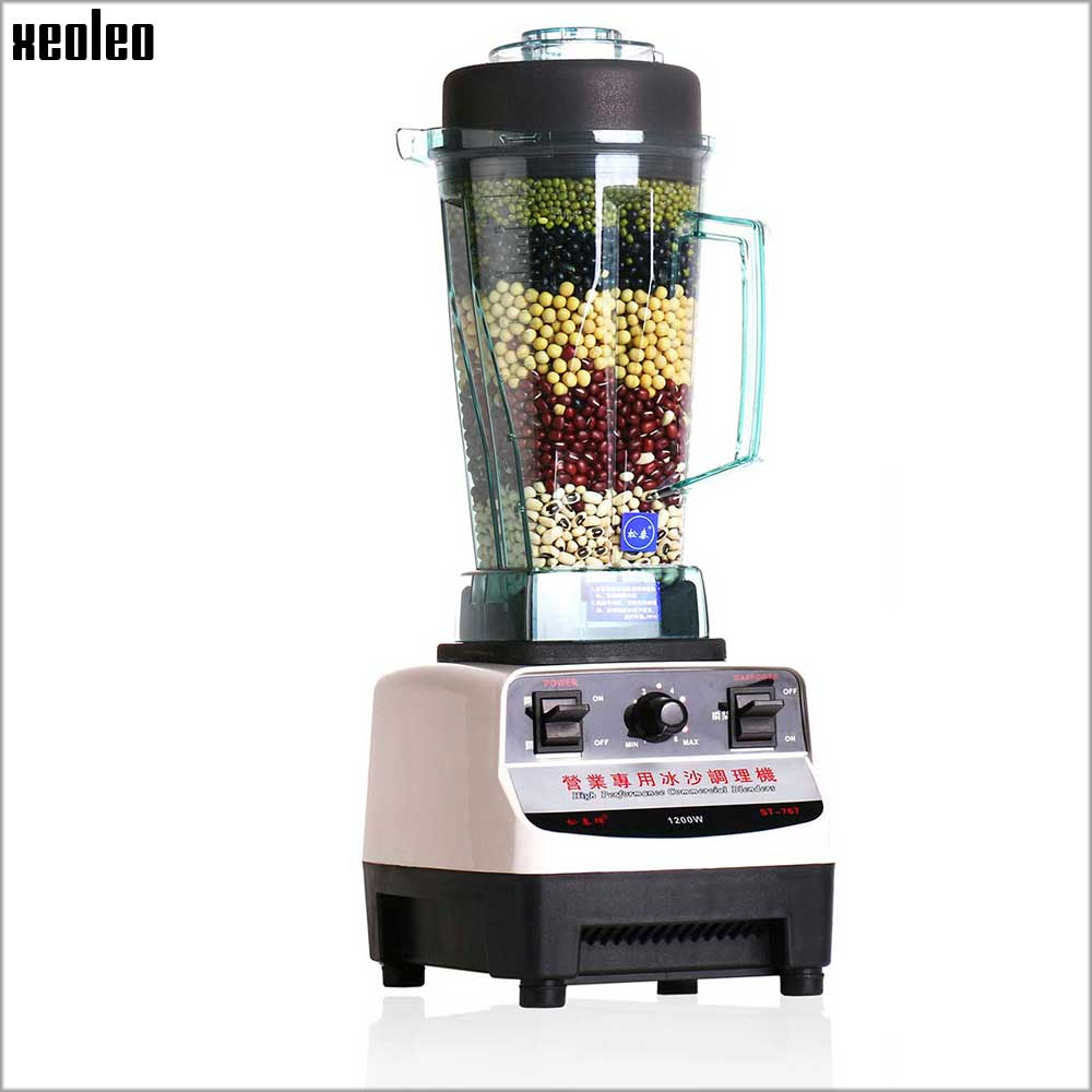 Xeoleo Commercial Blender Mixer 1200W Food Machine 2L PVC Cup Juicer Blender for Bubble tea ship Fruit$Vegetable Blender Machine 900w fruit mixer machine vegetable superfood blender processor juicer extractor free shipping