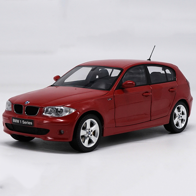 1:18 Scale Alloy Pull Back Toy Vehicles BWM 120i Series Car Model Of Children's Toy Cars Original Authorized Authentic Kids Toys