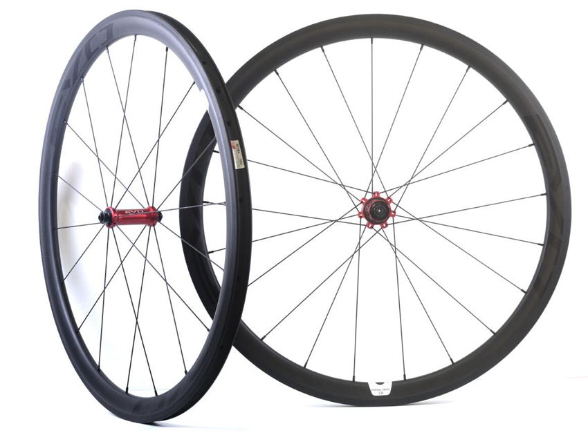 EVO 38mm depth road bike carbon wheels 25mm width clincher/ tubular bicycle carbon wheelset 3K matte with  Straight pull hub 1350g 38mm clincher straight pull racing road bike carbon wheels bicycle carbon wheelset for r36 hub