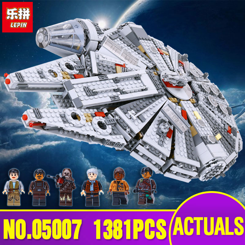 LEPIN 05007 Star Series Wars Millennium Toys Falcon Educational building blocks marvel Kids Toy Compatible with legoing 10467 ynynoo lepin 05007 star assembling building blocks marvel toy compatible with 10467 educational boys gifts wars