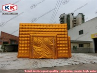 2015 heated giant golden inflatable bubble cubic tents,Inflatable party/event/exhibition/advertising tent