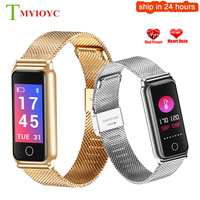 Y8 Fitness Smart Bracelet Women Men Stainless Steel Smart Band Heart Rate Blood Pressure Monitor Health Wristband Drop Shipping