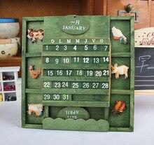 France idyllic village calendar / calendar / creative building blocks / Desktop calendar calendar blocks/gift