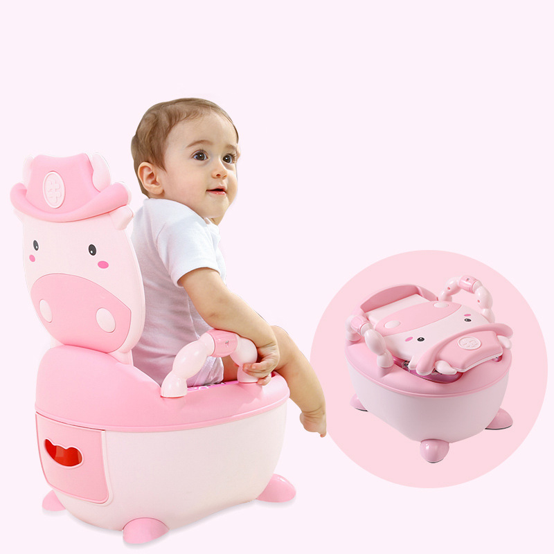 Dropshipping Soft Baby Potty Toilet Training Seat Portable Plastic Infant Simulation baby toilet Kids Indoor WC Chair Child Pot image