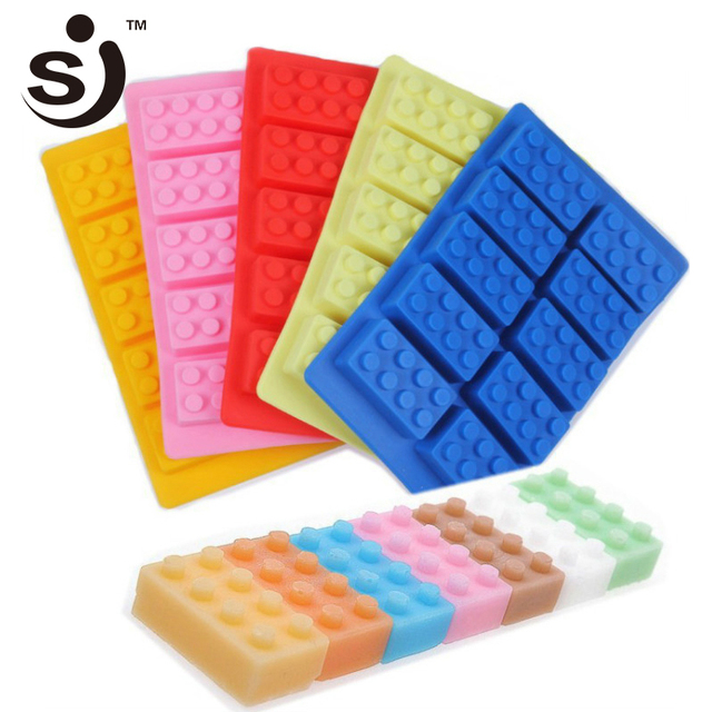 10 ячеек Lego Форма для льда прямоугольная Силиконовая форма Строительные блоки Форма для льда Лего конструктор льда Силиконовые Конфеты лёд желе DIY