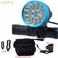 Walkfire водонепроницаемый велосипедный светильник налобный фонарь 20000 люмен 12 x XML T6 светодиодный велосипедный головной светильник + аккумулят...