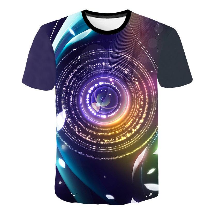 Hip hop Schwarz Und Weiß Vertigo Hypnotischen Druck T Shirt Unisxe Lustige Kurze T-stücke Männer/frauen Tops Männer der 3D T-shirt