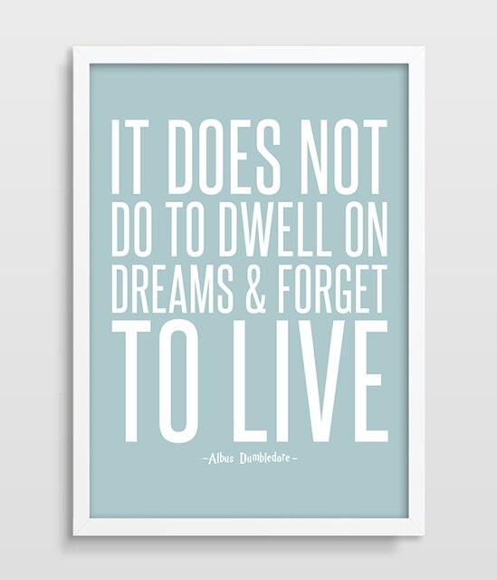 Inspirational quote typographic print harry potter quote for Inspirational quotes for kids room