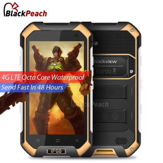 Blackview BV6000 Waterproof Mobile Phone 4.7 inch HD MT6755 Octa Core Android 6.0 3GB RAM 32GB ROM 13MP Cam OTG 4G Smartphone