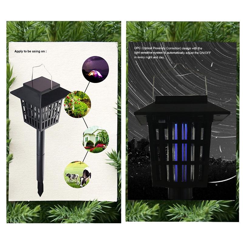 Mising AGD-11 aed päikeseenergia LED Mosqutio tapja lambi veekindel - Puhkusevalgustus - Foto 3
