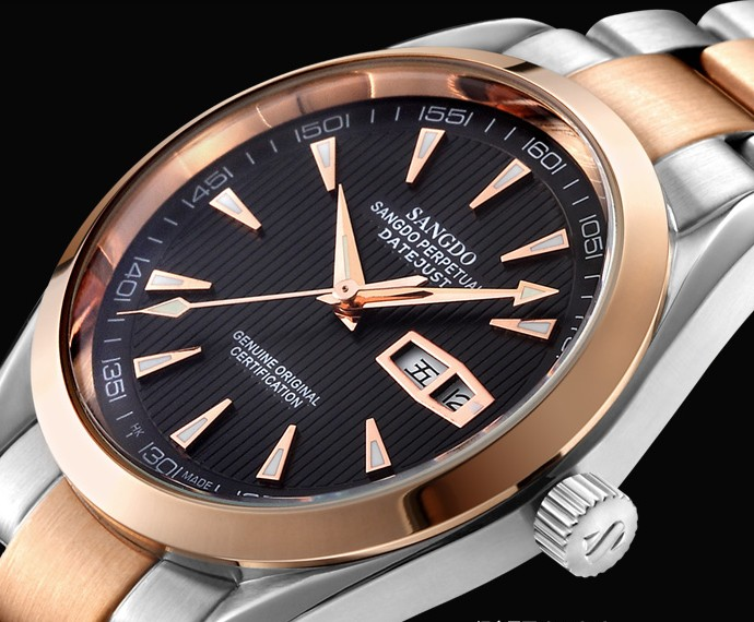 40mm Sangdo Business watch Automatic Self Wind movement High quality 2016 new fashion 072e Men s