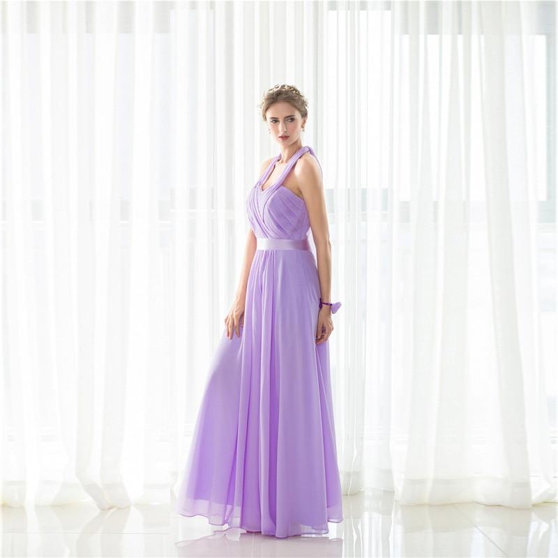 Popodion hermana violeta vestidos de dama de honor larga para ...