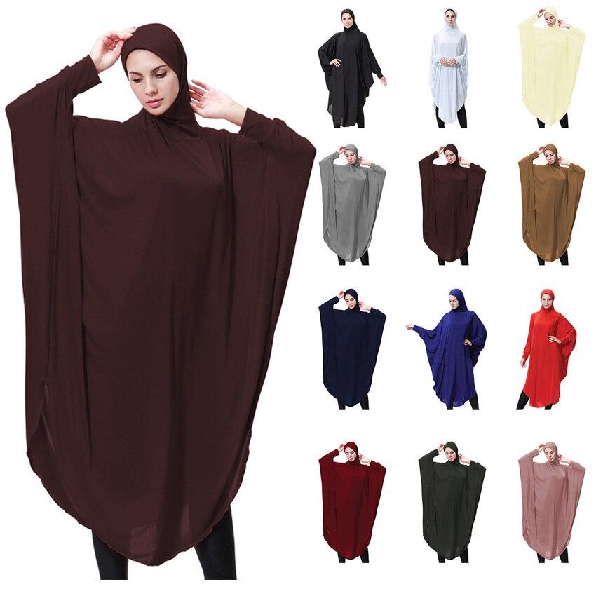 Women Hooded Head Cover Plus Size Turkish Kaftan Muslim Abaya Cardigan Arabic Dubai Worship Service Islamic Clothing Dress Robe