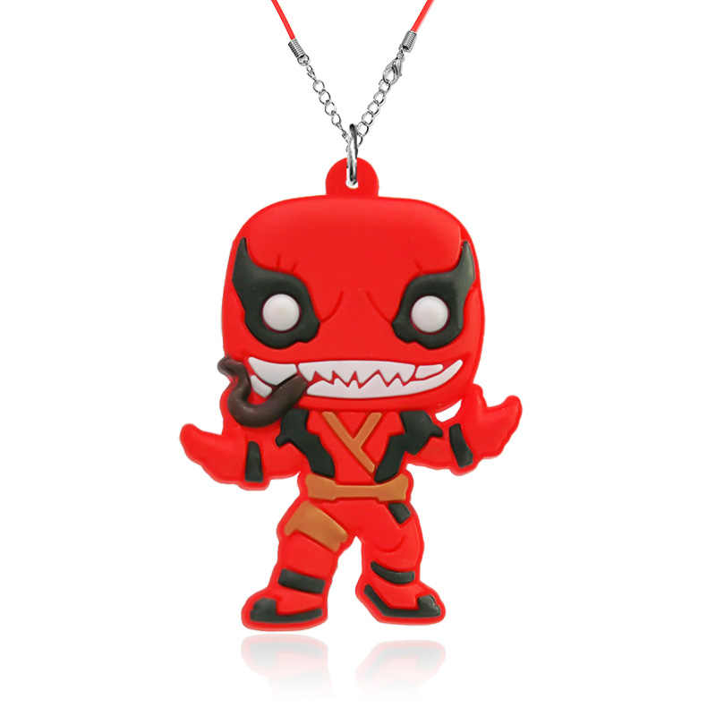 1pcs Venom Pendant Necklace Action Figure Rope Chain Choker Anime Accessories for Boys Girls Kids Birthday Party Gift