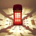 Cabina de Teléfono de londres Luz de La Noche, Casa Rural por Habitaciones La Decoración LLEVÓ La Noche, Pulse USB Noche Lámpara de Mesa de Escritorio luz Bebé de Los Niños
