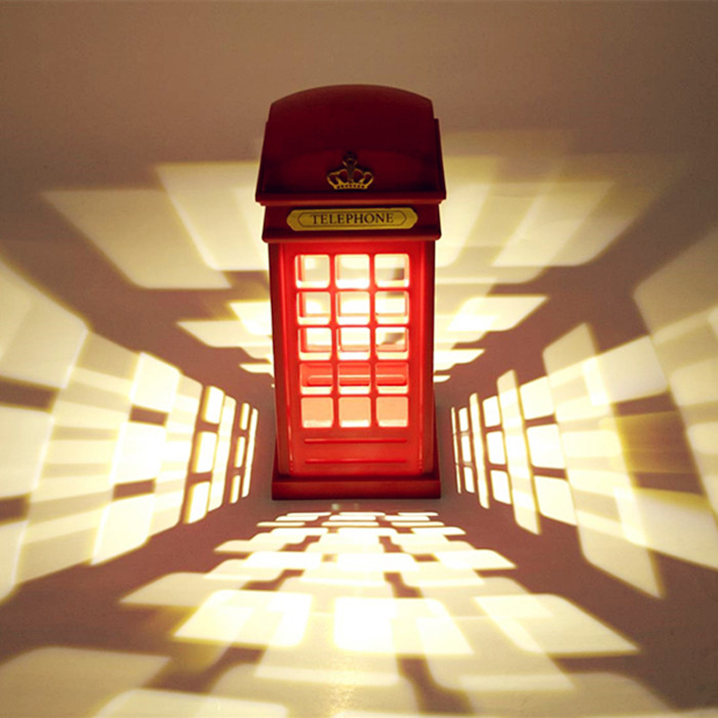 London telephone booth night lighthome bed room decoration led night lamptouch usb night lamp table desk light baby children in night lights from lights